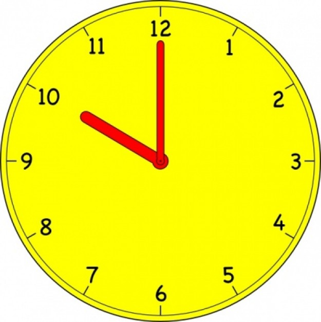disillusionment-clipart-analog-clock-in-yellow-at-ten-o-clock_416058