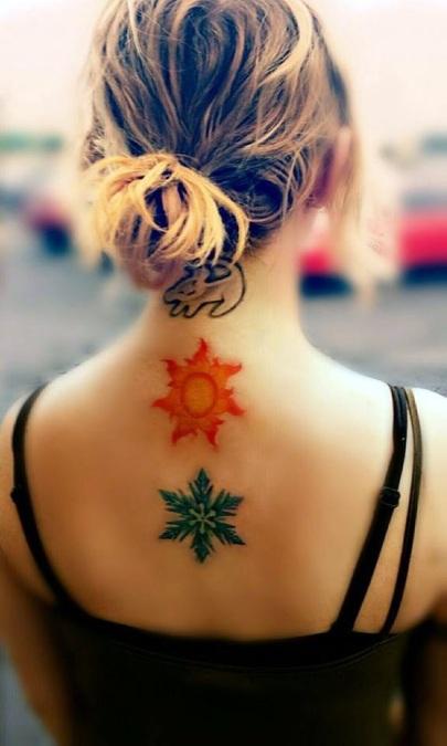 Cute-and-Artsy-Snowflake-Tattoos-35