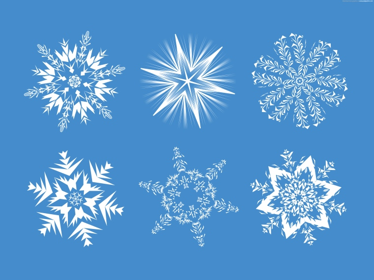 set-of-snowflakes