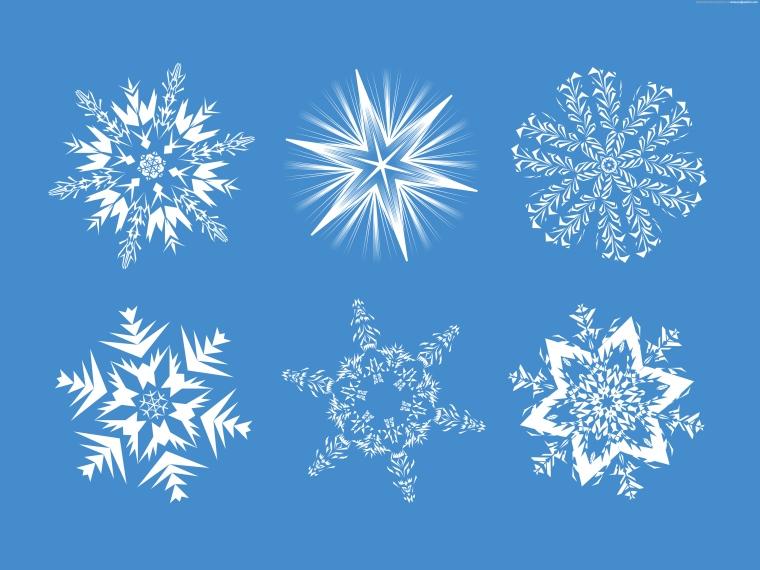 set-of-snowflakes