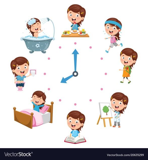 kids-daily-routine-activities-vector-20635299